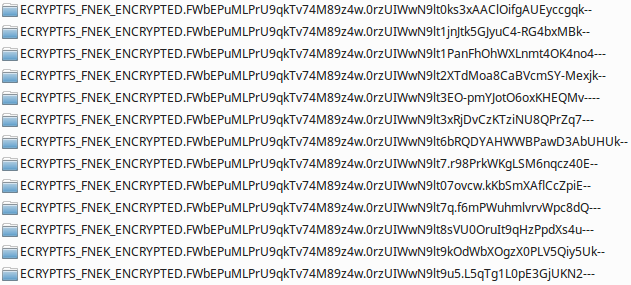 Encrypted filenames