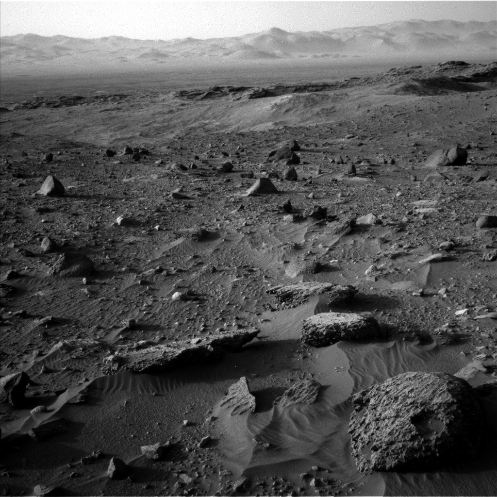 Mars in shades of gray